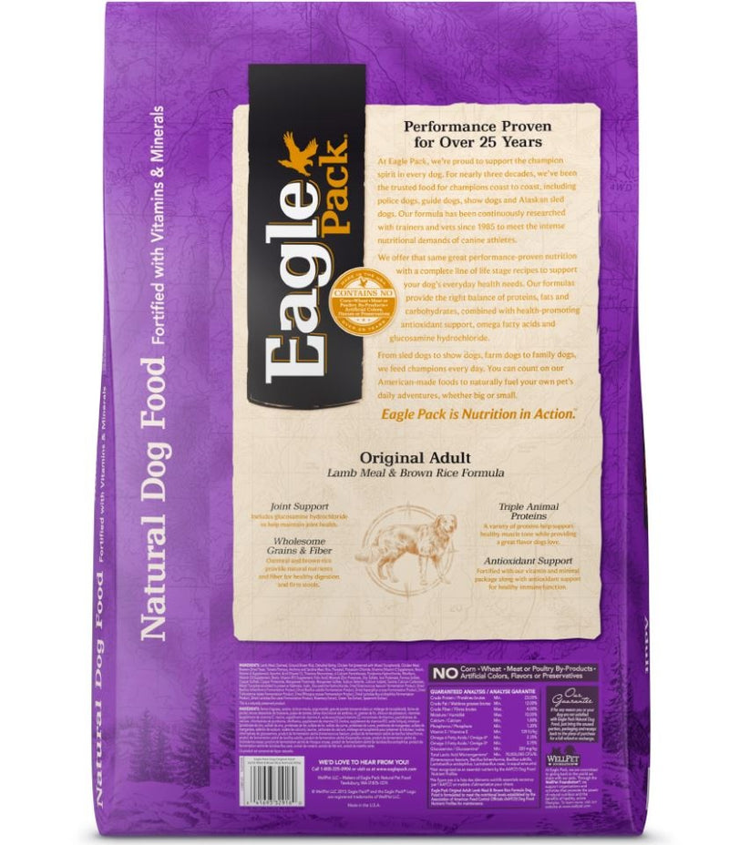 Eagle Pack Natural Lamb Meal and Brown Rice Formula Dry Dog Food - Mr Mochas Pet Supplies