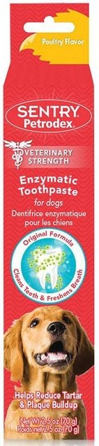 SENTRY Petrodex Veterinary Strength Enzymatic Poultry Flavor Toothpaste for Dogs - Mr Mochas Pet Supplies