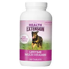 Health Extension Puppies and Adults Lifetime Vitamins - Mr Mochas Pet Supplies