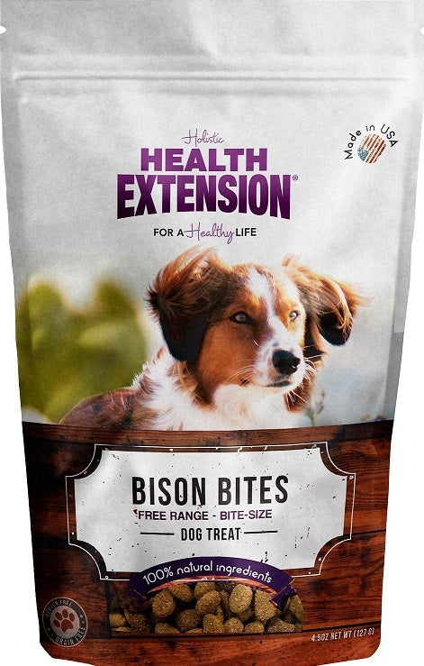 Health Extension Grain Free Bison Bites Dog Treats - Mr Mochas Pet Supplies