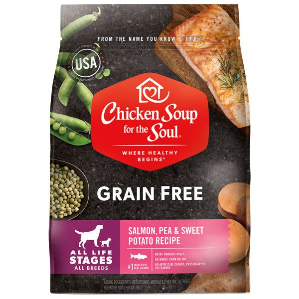 Chicken Soup For The Soul Grain Free Salmon and Sweet Potato Dry Dog Food - Mr Mochas Pet Supplies
