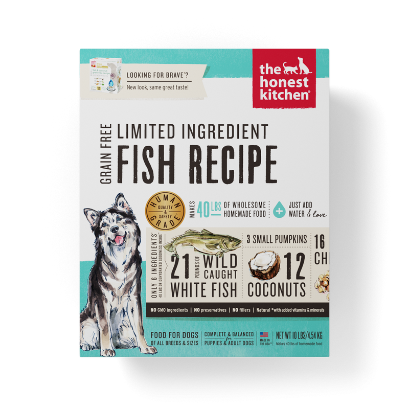 The Honest Kitchen Limited Ingredient Grain Free Fish Recipe Dehydrated Dog Food - Mr Mochas Pet Supplies