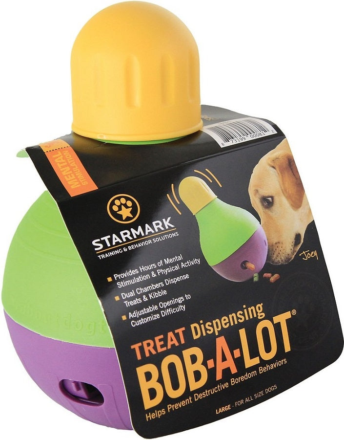 Starmark Treat Dispensing Bob-a-Lot Dog Toy - Mr Mochas Pet Supplies