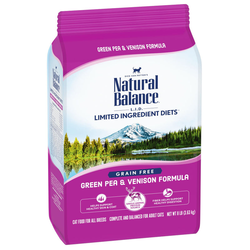 Natural Balance L.I.D. Limited Ingredient Diet Adult Grain Free Green Pea & Venison Adult Dry Cat Food - Mr Mochas Pet Supplies