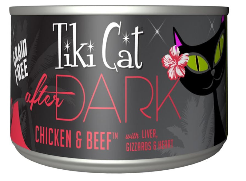 Tiki Cat After Dark Grain Free Chicken and Beef Canned Cat Food - Mr Mochas Pet Supplies