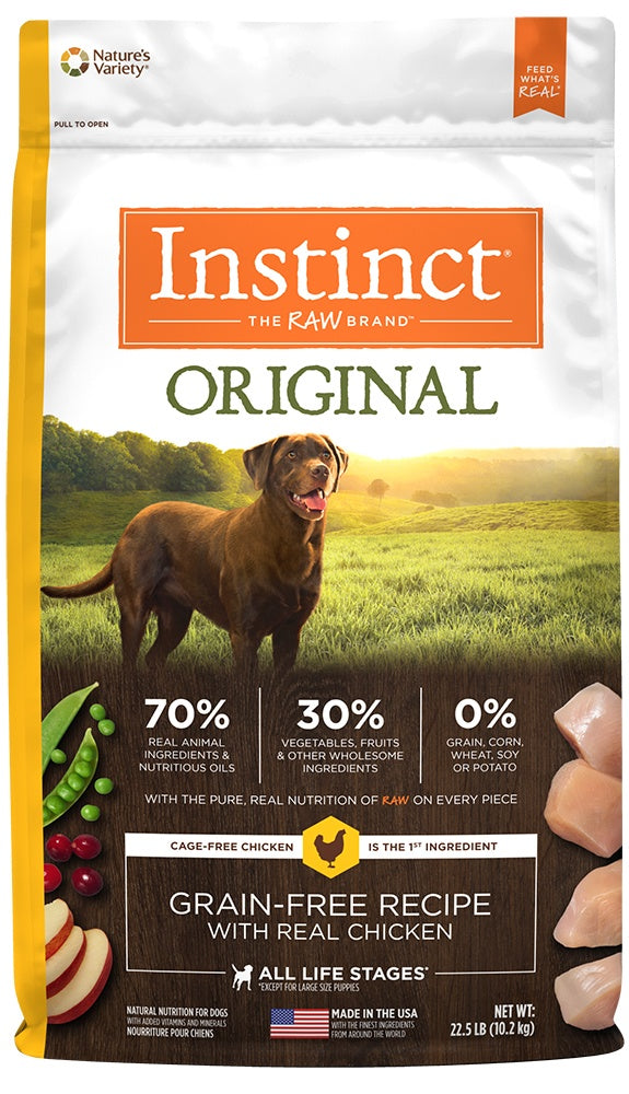 Instinct Original Grain Free Recipe with Real Chicken Natural Dry Dog Food - Mr Mochas Pet Supplies