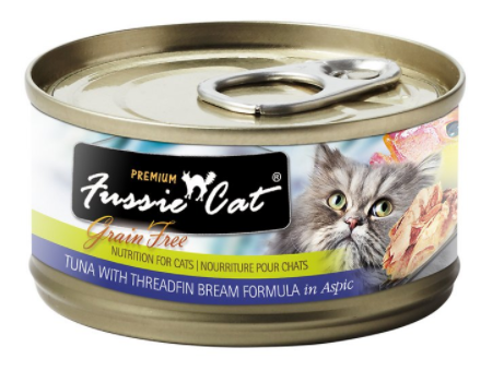 Fussie Cat Grain Free Premium Tuna with Threadfin Bream in Aspic Canned Cat Food - Mr Mochas Pet Supplies