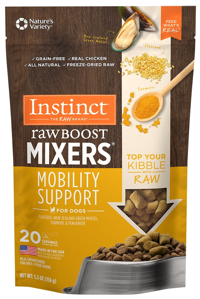 Instinct Grain Free Freeze Dried Raw Boost Mixers Mobility Support Recipe Dog Food Topper - Mr Mochas Pet Supplies