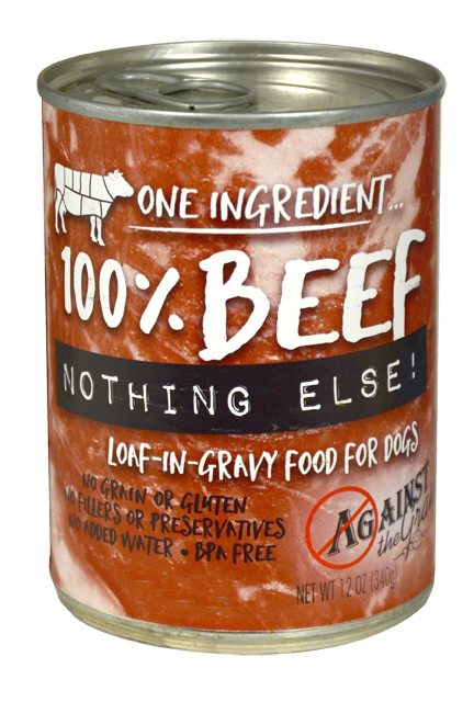 Against the Grain Nothing Else Grain Free One Ingredient 100% Beef Canned Dog Food - Mr Mochas Pet Supplies