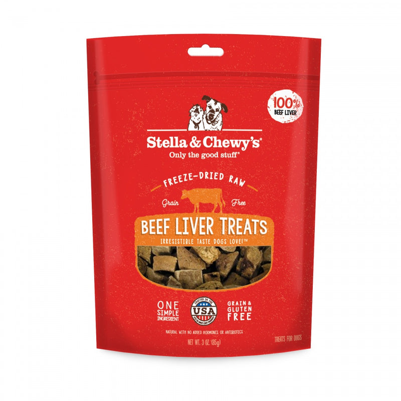 Stella & Chewy's Freeze-Dried Raw Beef Liver Dog Treats - Mr Mochas Pet Supplies