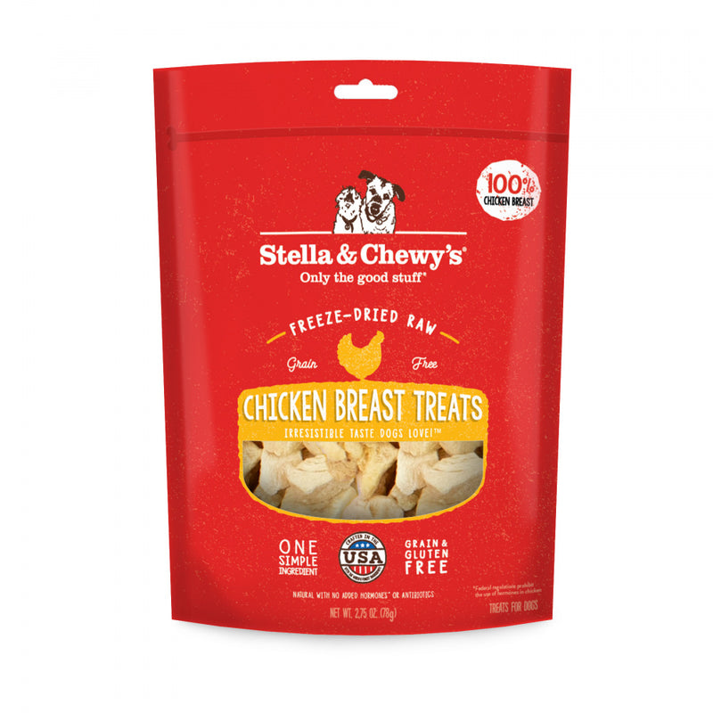 Stella & Chewy's Freeze-Dried Raw Chicken Breast Dog Treats - Mr Mochas Pet Supplies