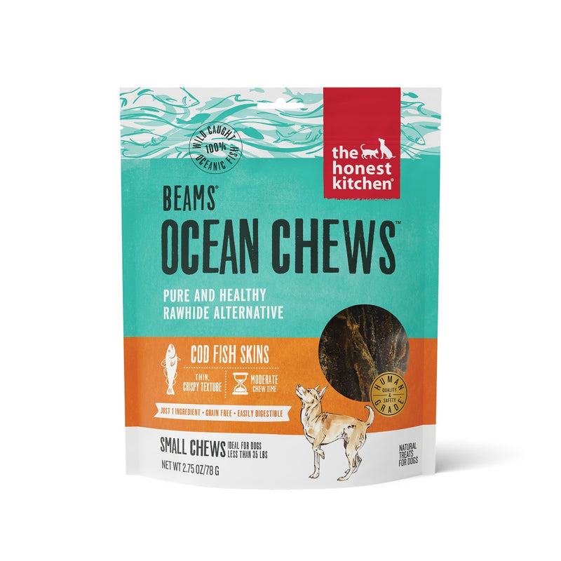 The Honest Kitchen BEAMS Grain Free Small Ocean Chews Cod Skin Dog Treats - Mr Mochas Pet Supplies