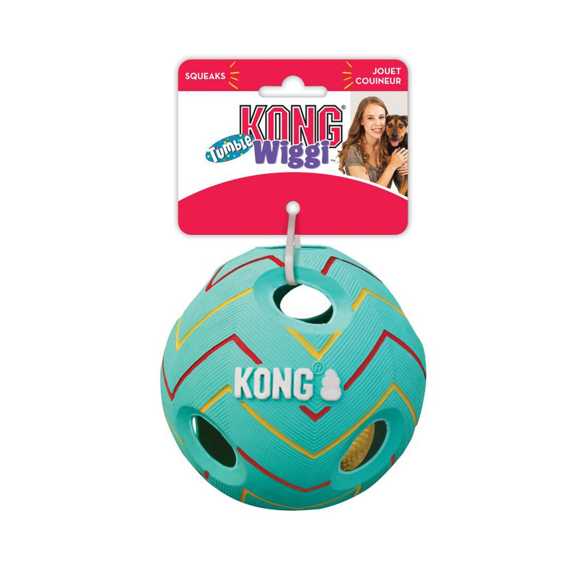 KONG Wiggi Tumble Dog Toy   (Colors Vary) - Mr Mochas Pet Supplies