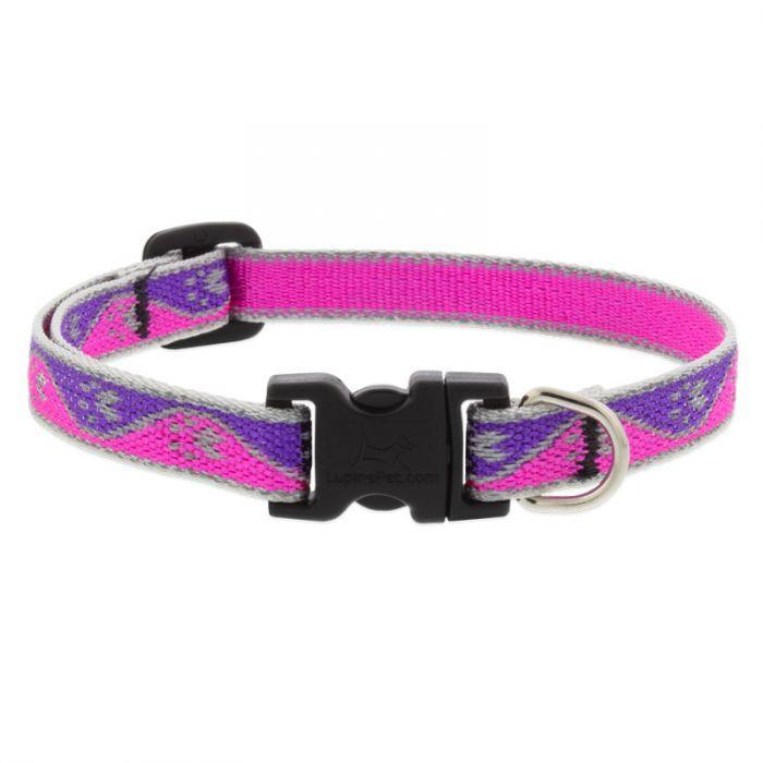 Lupine 1/2in Pink-Paws Adj Collar - Mr Mochas Pet Supplies