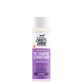 Skout's Honor Grooming Shampoo Plus Conditioner 16 oz Lavender - Mr Mochas Pet Supplies
