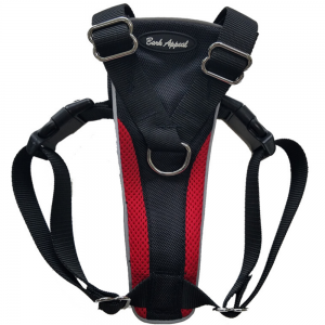 Bark Appeal Reflective Control Harness Red - Mr Mochas Pet Supplies