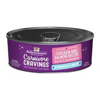 Stella & Chewy's Cat Wet Carnivore Cravings Pate Chicken & Salmon 2.8 oz - Mr Mochas Pet Supplies