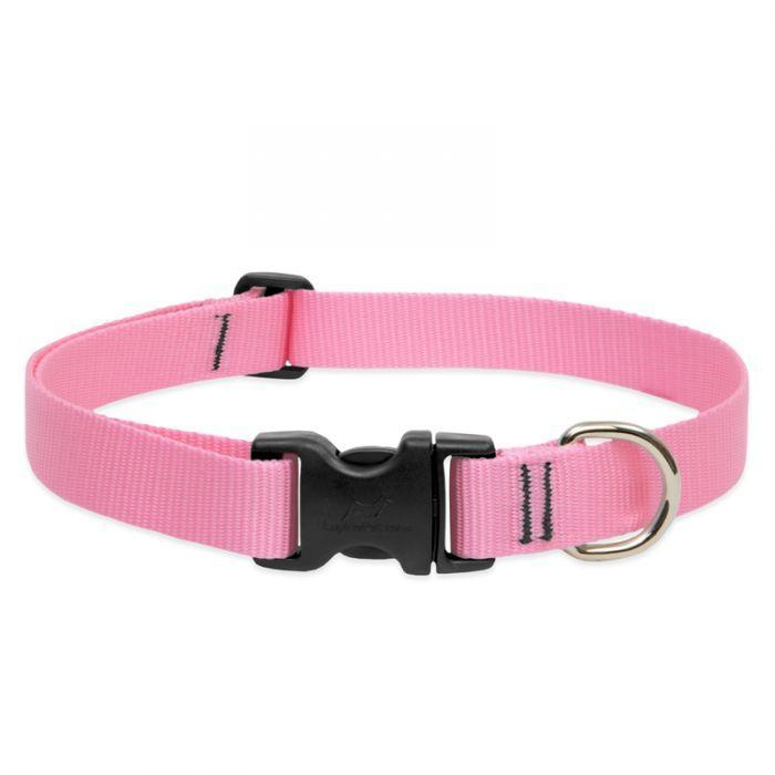 Lupine 1in Pink 25-31 Adj Collar - Mr Mochas Pet Supplies