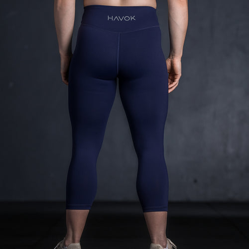 STAPLE 7/8 LEGGINGS - NAVY - Havok Athletic