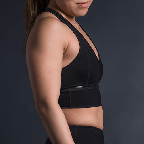 STAPLE SPORTS BRA - BLACK - Havok Athletic