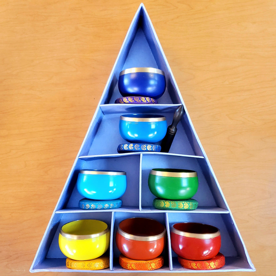 Mini Chakra Singing Bowl Set
