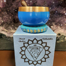 Load image into Gallery viewer, Mini Throat Chakra Singing Bowl Set