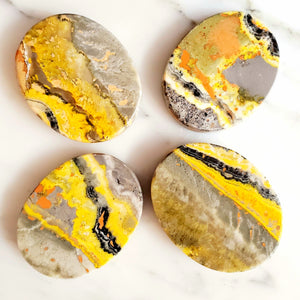 Bumble Bee Jasper Flat Oval