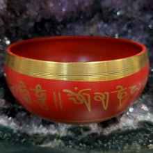 Load image into Gallery viewer, Aluminum Singing Bowl Red