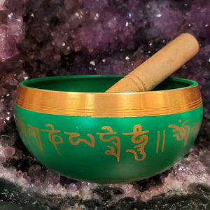 Aluminum Singing Bowl Green