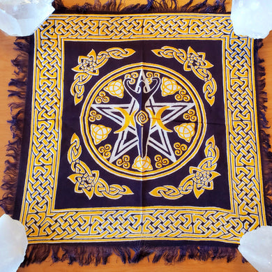 Altar Cloth with Triple Goddess