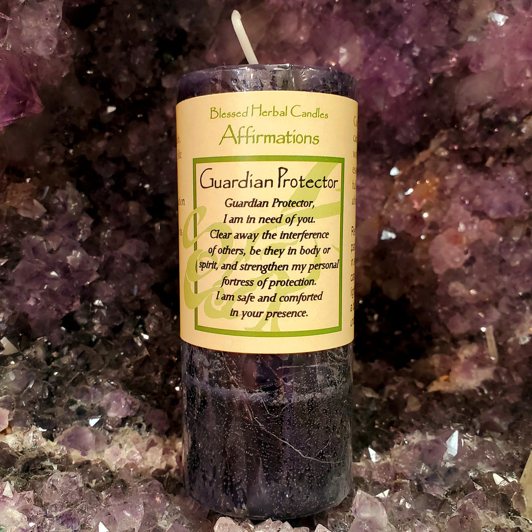 Guardian Protector Blessed Herbal Affirmation Candle