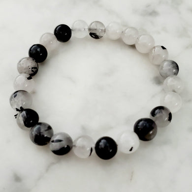 Tourmaline in Quartz Bracelet