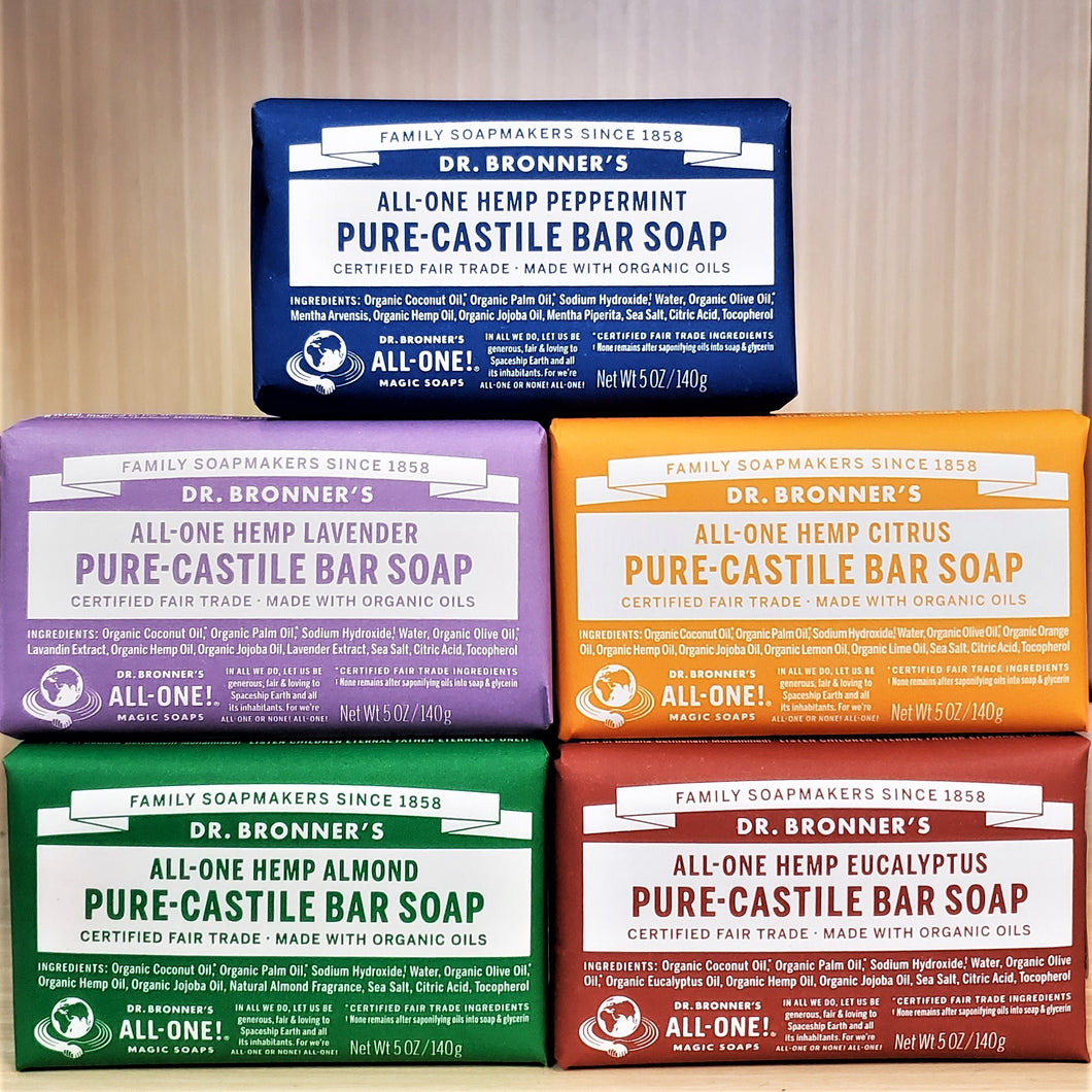Dr. Bronner's Hemp Bar Soaps