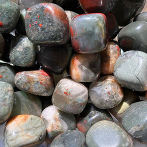 Small tumbled bloodstone gems