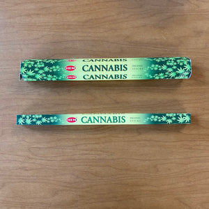 Hem Cannabis incense in 8 sticks or 20 sticks sizes
