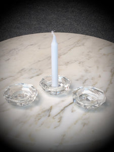 Clear Octagon Mini Candle Holder