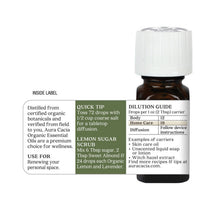 Load image into Gallery viewer, Lemon Organic Essential Oil