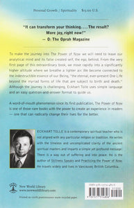 The Power of Now by Eckhart Tolle Back Cover