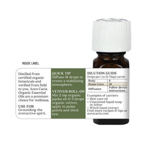 Load image into Gallery viewer, Vetiver Organic Essential Oil