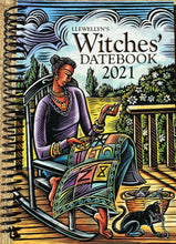 "Load image into Gallery viewer, Llewellyn's Witches' Datebook for 2021.  6""x8"" week at a glance planner with illustrations, ways to celebrate the Wheel of the Year and tips from practicing witches."