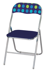 Dotty Padded Folding Chair