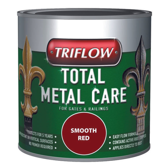 Triflow Metal Care For Gates & Railings 500ml Red Smooth