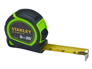Stanley 8m (26ft) Hi-Vis Tape