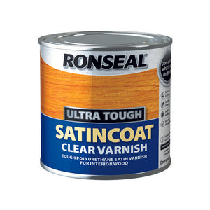 Ronseal Ultra Tough Varnish 250ml Satin Coat