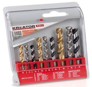 Varo 9Pc. Hss Drill Set Masonry/Timber