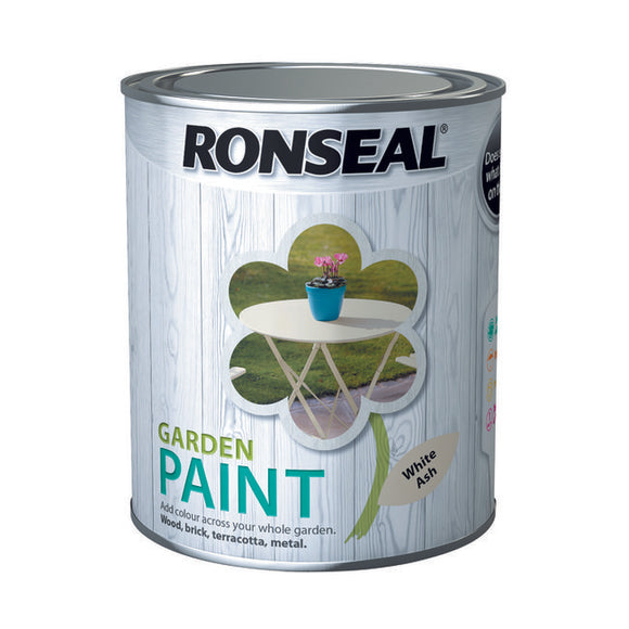 Ronseal Garden Paint 750ml White Ash