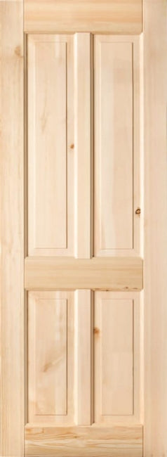 Indoors Shelton Pre-Finished Red Deal 4 Panel Door 80X32
