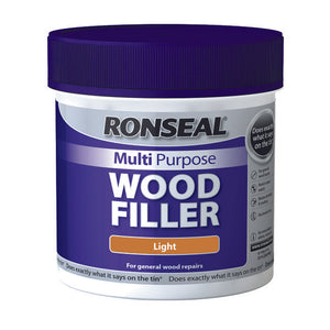 Ronseal Multi Purpose Wood Filler Tub 465g Light