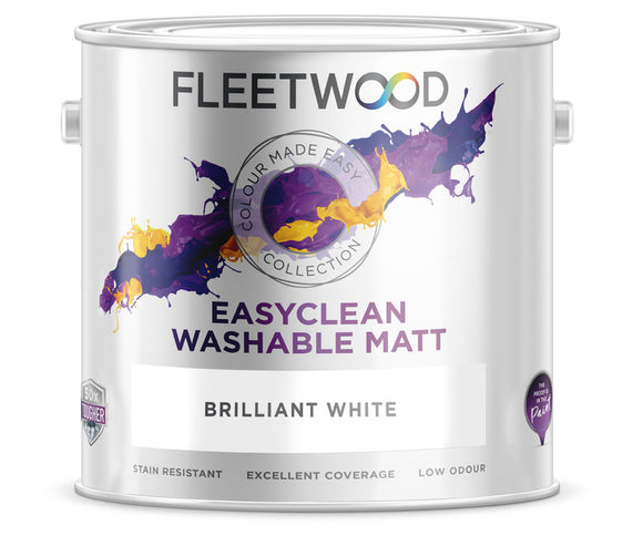 Fleetwood Easy Clean Brilliant White 2.5Ltr