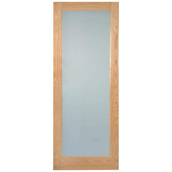 Indoors Rushmore Lamsafe Glazed Oak Door Pre-Fin 80X34